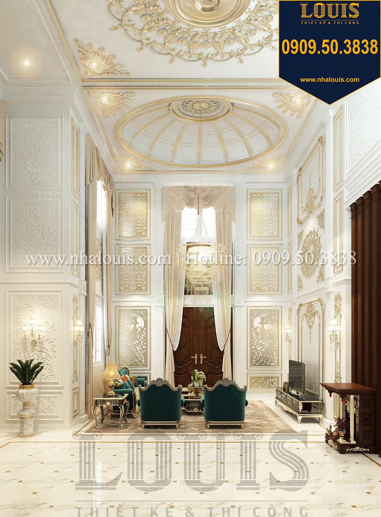 Phòng khách Biệt thự Châu Âu cổ điển chuẩn sang chảnh tại Nhà Bè - 011