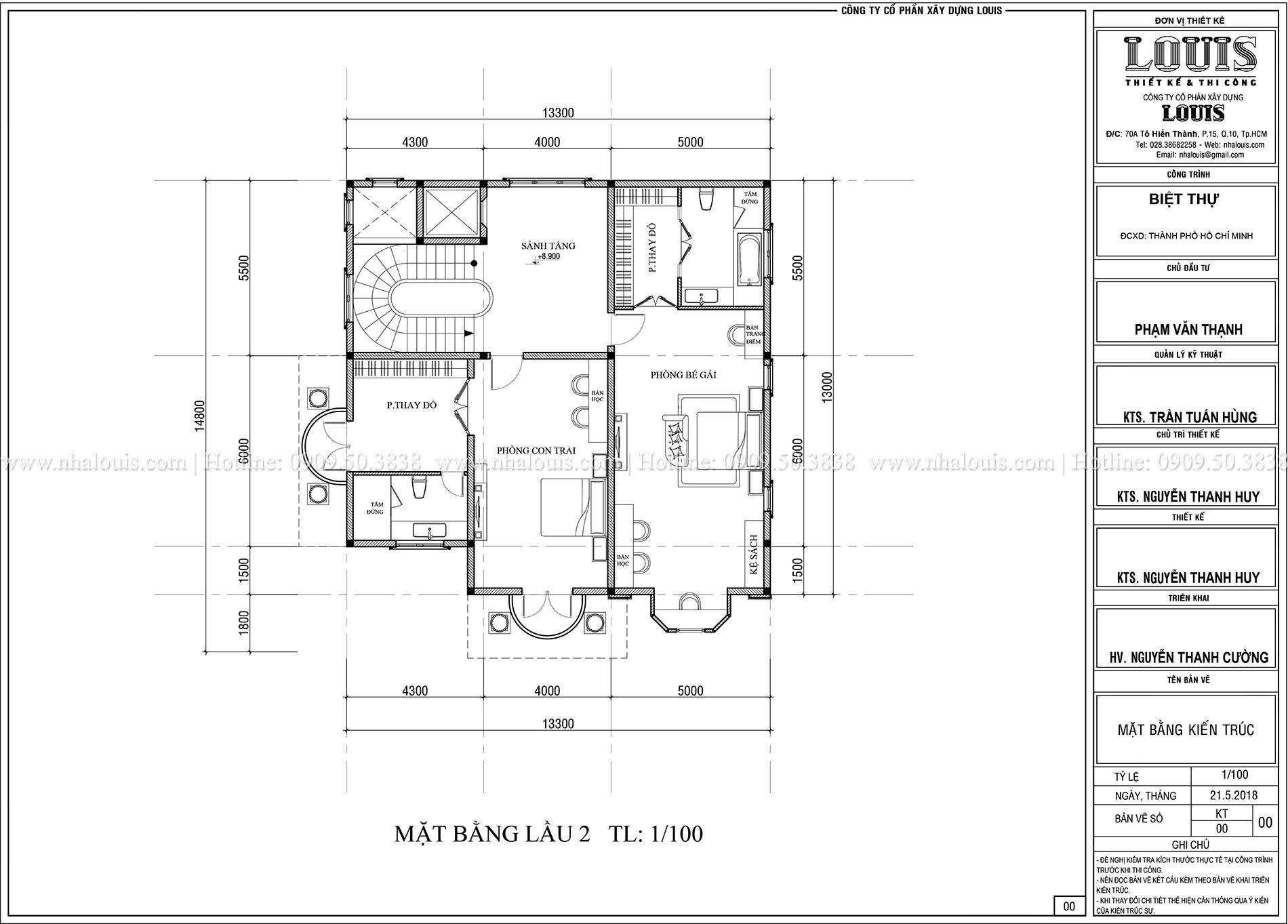 Mặt bằng lầu 2 Biệt thự Châu Âu cổ điển chuẩn sang chảnh tại Nhà Bè - 019a