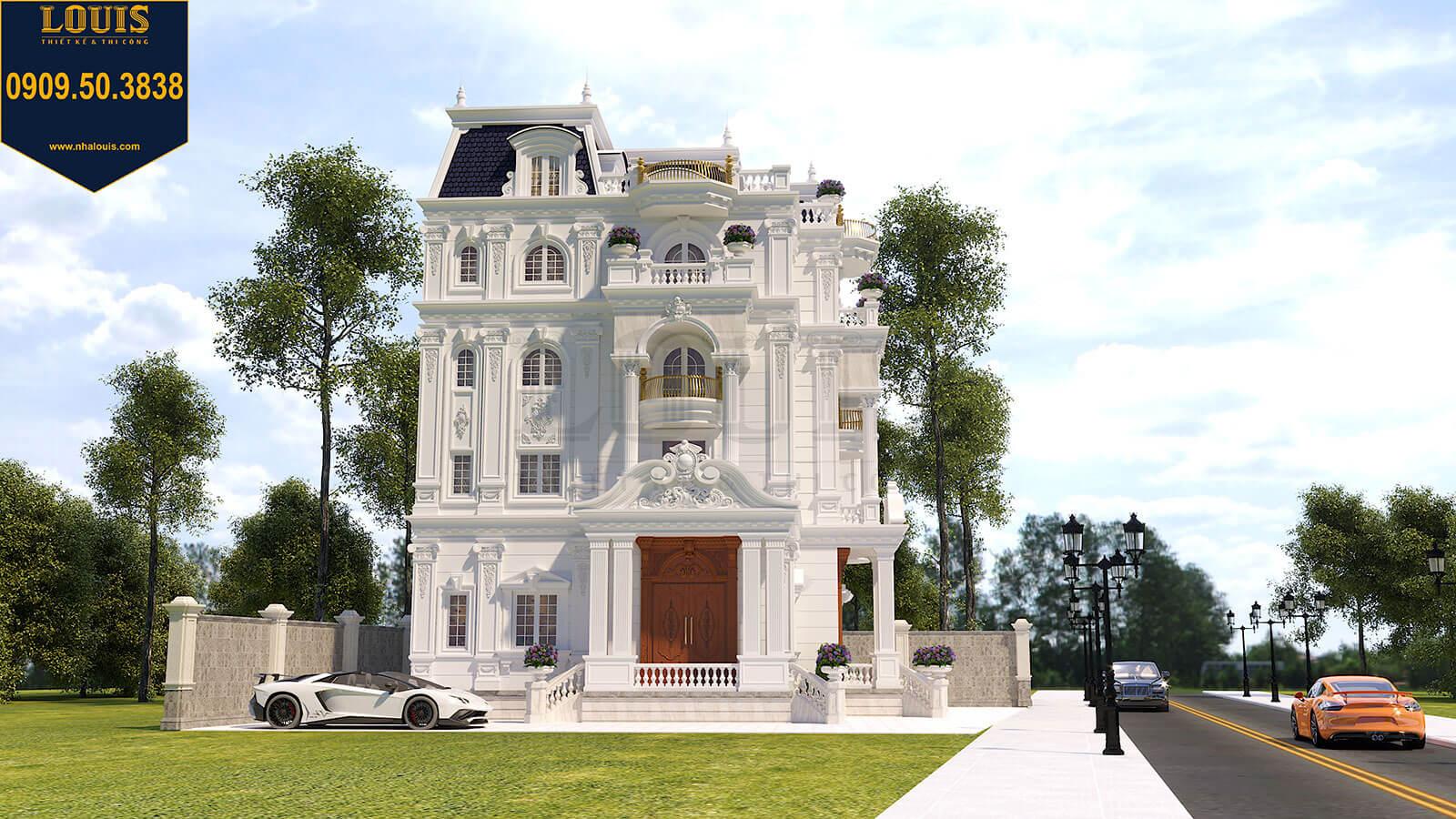 Mặt tiền Biệt thự Châu Âu cổ điển chuẩn sang chảnh tại Nhà Bè - 02