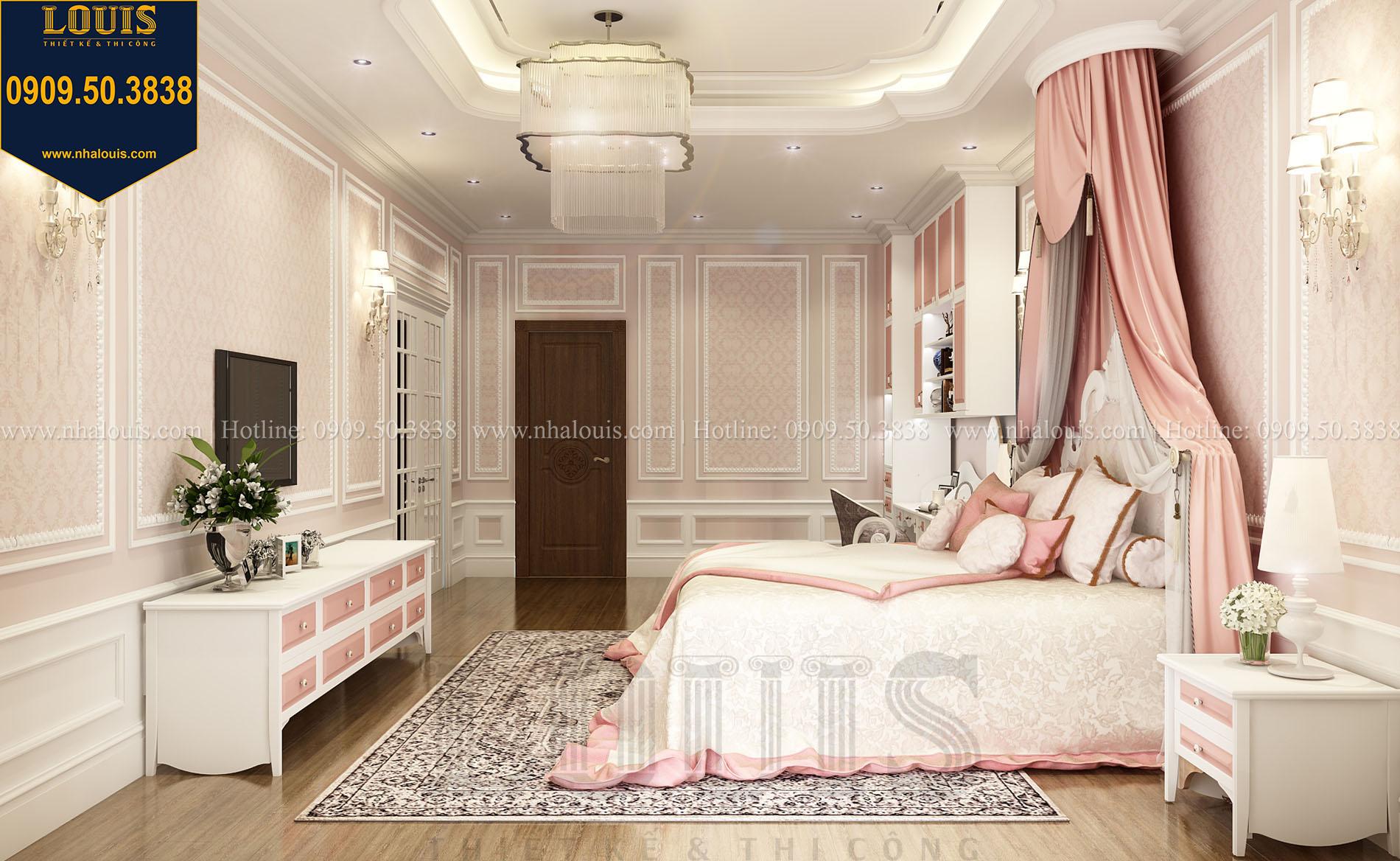 Phòng ngủ con gái Biệt thự Châu Âu cổ điển chuẩn sang chảnh tại Nhà Bè - 020