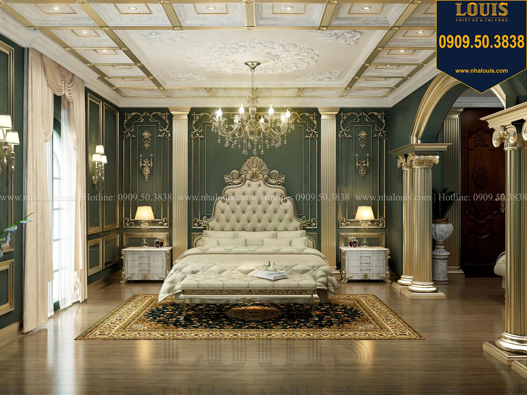 Phòng ngủ master Biệt thự Châu Âu cổ điển chuẩn sang chảnh tại Nhà Bè - 026