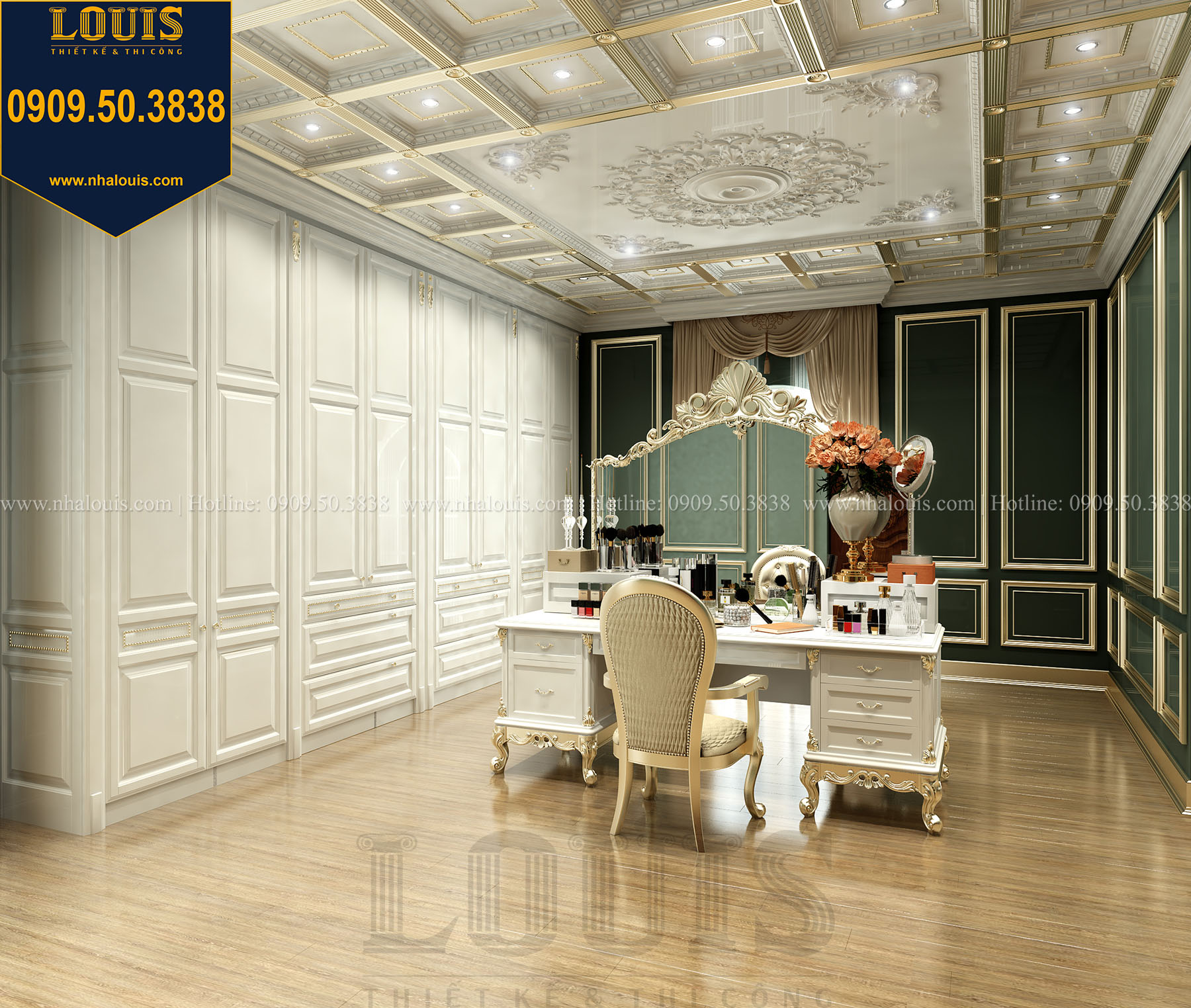 Phòng ngủ master Biệt thự Châu Âu cổ điển chuẩn sang chảnh tại Nhà Bè - 029