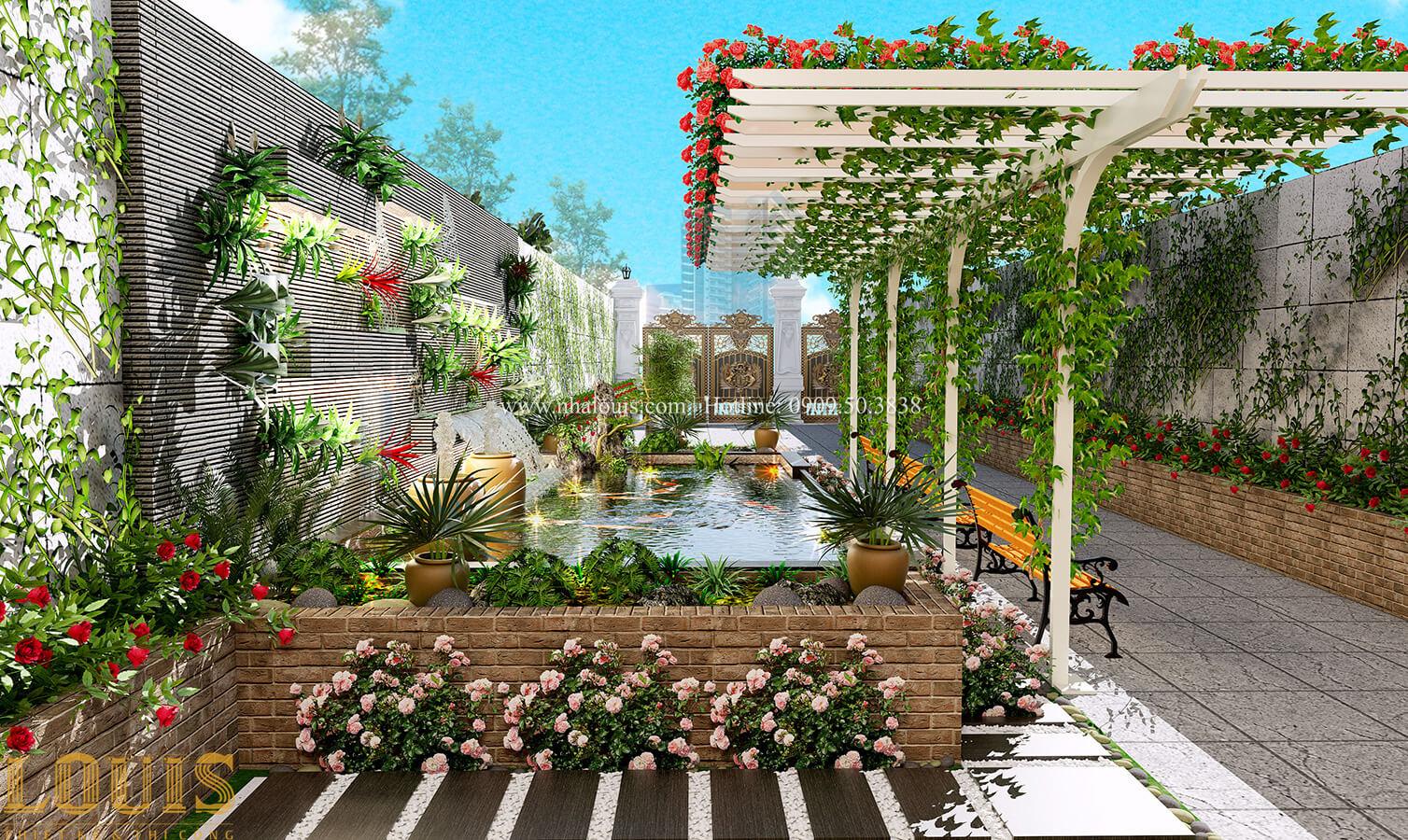 Sân vườn Thích thú bước vào biệt thự sân vườn đẹp xanh mát tại Tân Bình - 13