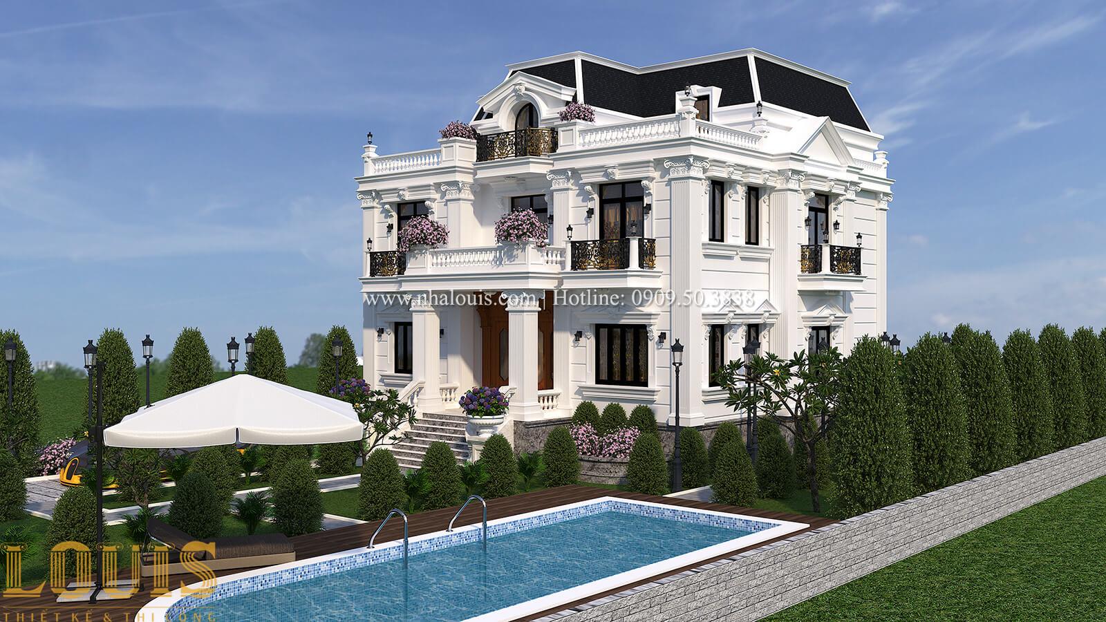 Mẫu nhà biệt thự 3 tầng đẹp có hồ bơi sân vườn tại Biên Hòa - 02