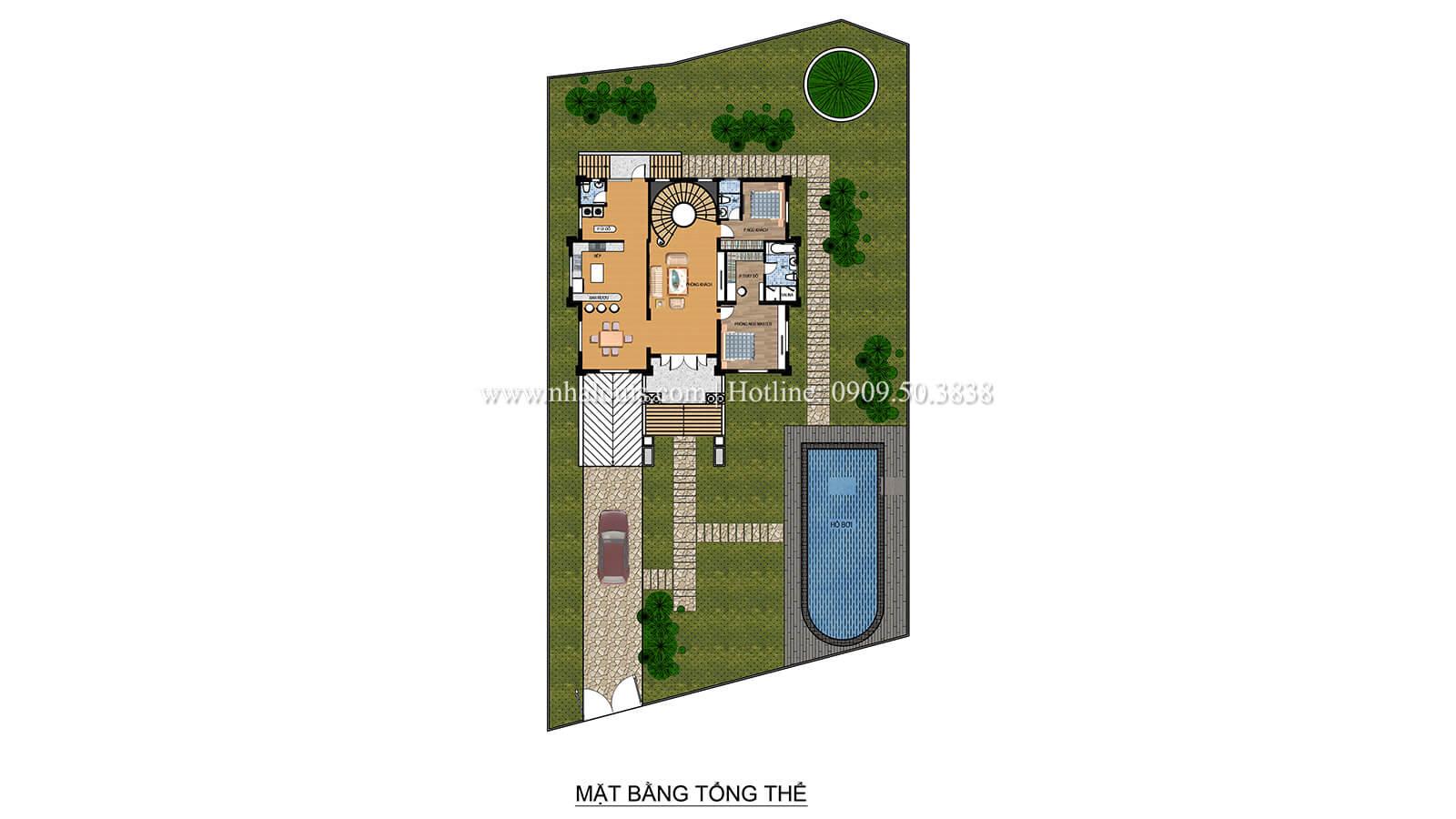 Mặt bằng tổng thể Biệt thự tân cổ điển có tầng hầm và sân vườn đẹp mỹ miều tại Biên Hòa - 03