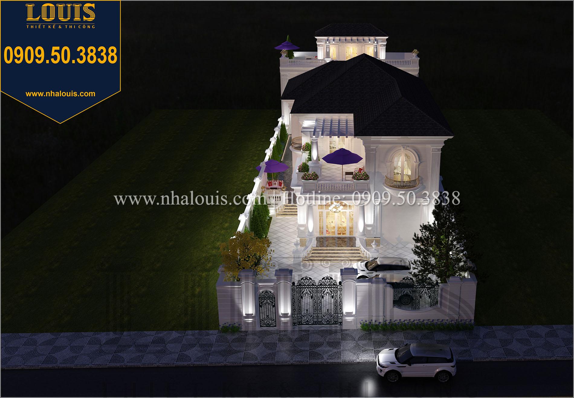 Mặt tiền mẫu biệt thự 2 tầng đẹp - 002