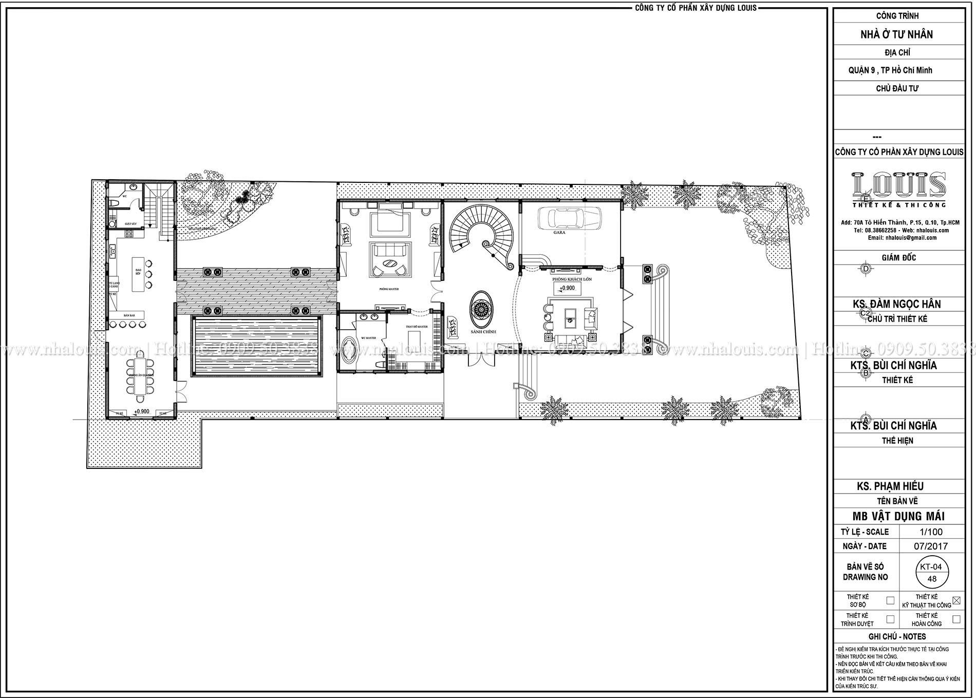 Mặt bằng tầng trệt mẫu biệt thự 2 tầng đẹp - 006