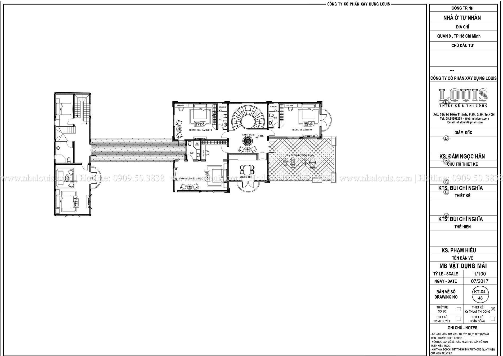 Mặt bằng lầu 1 biệt thự 2 tầng đẹp - 007