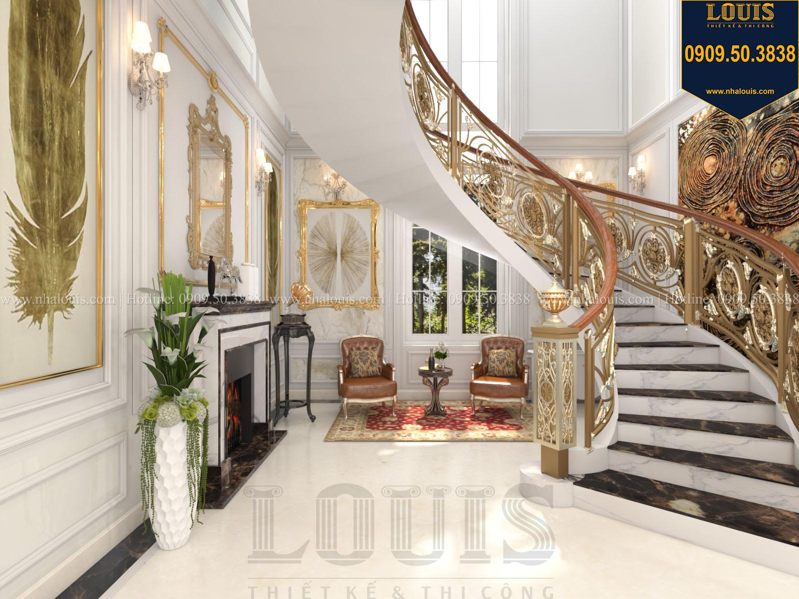 Cầu thang biệt thự 2 tầng đẹp - 010
