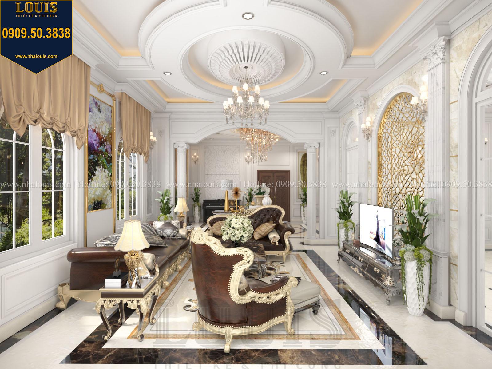 Phòng khách biệt thự 2 tầng đẹp - 014