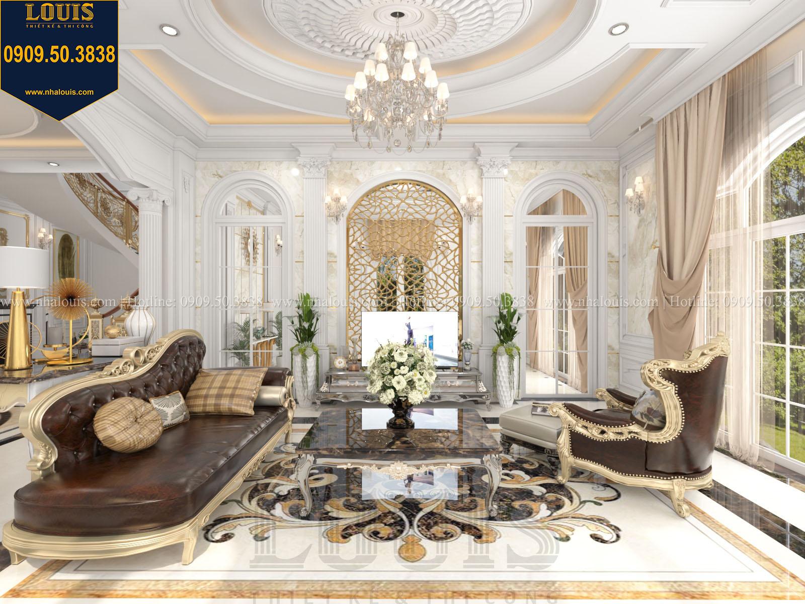 Phòng khách biệt thự 2 tầng đẹp - 015