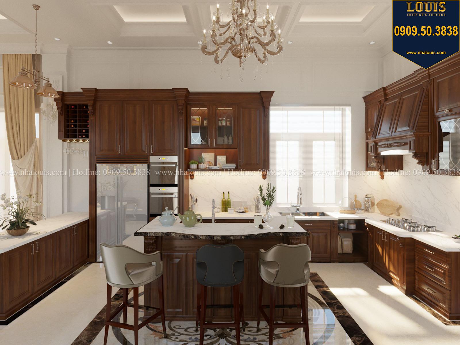 Bếp biệt thự 2 tầng đẹp chọn gỗ làm chất liệu chủ đạo đầy ấm áp - 017
