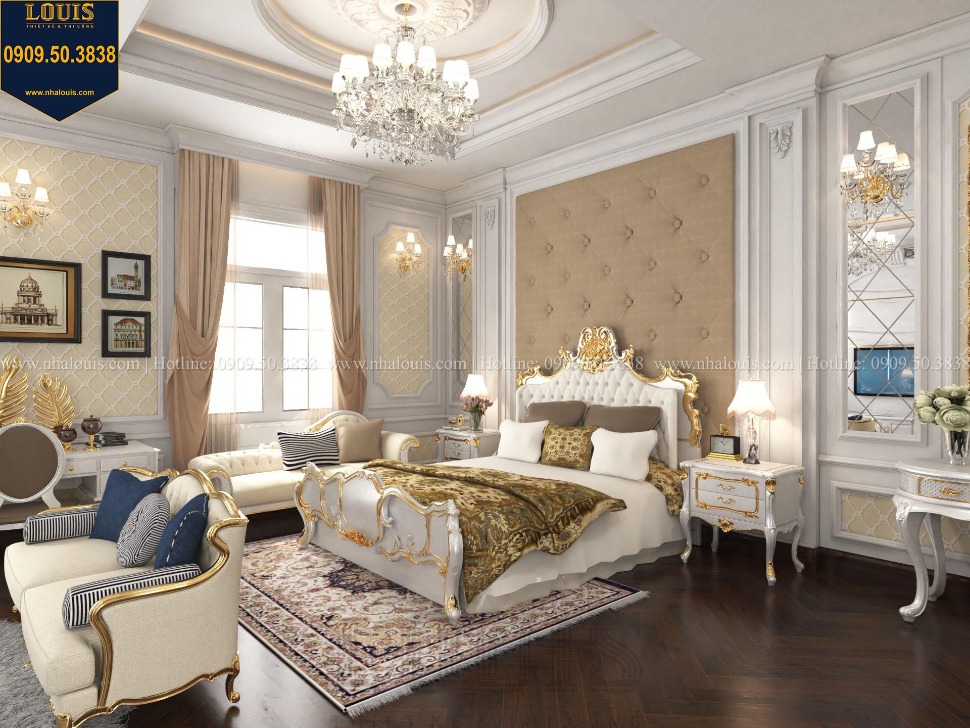Phòng ngủ master biệt thự 2 tầng đẹp - 023