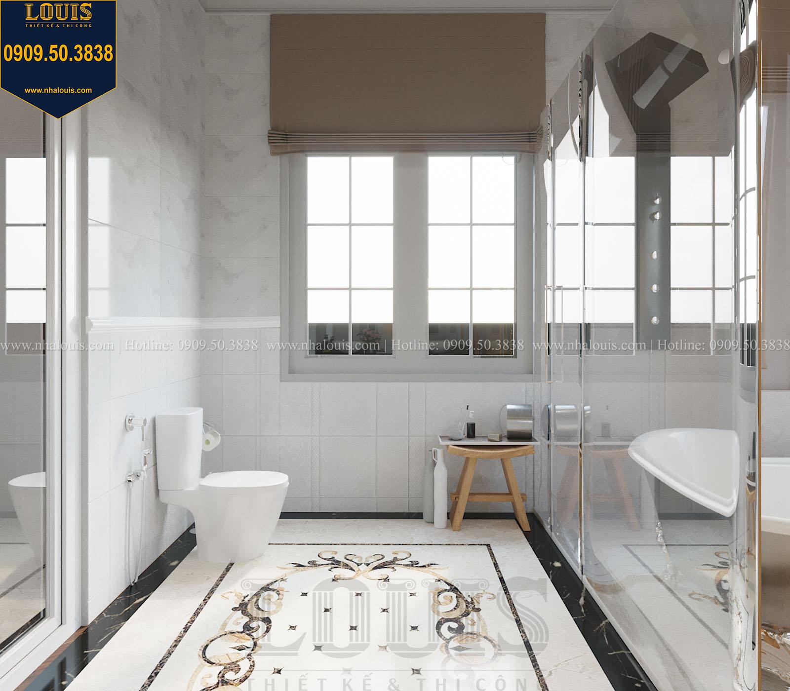 Phòng tắm và WC biệt thự 2 tầng đẹp - 030