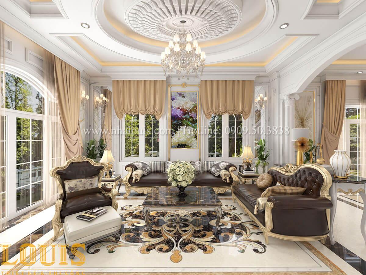 Phòng khách Mẫu biệt thự 2 tầng đẹp không tì vết tại Hội An gây mê đắm - 15