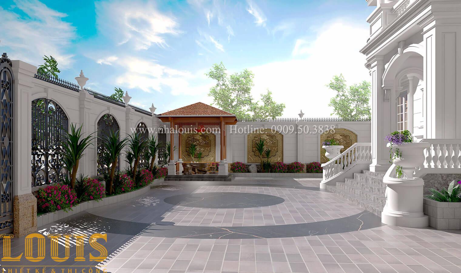 Sân vườn Mẫu nhà biệt thự 3 tầng đẹp thuần khiết tại Bình Dương - 35