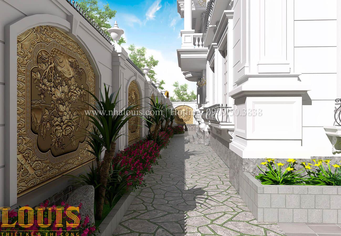 Sân vườn Mẫu nhà biệt thự 3 tầng đẹp thuần khiết tại Bình Dương - 37