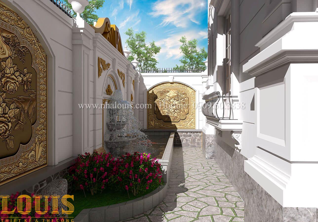 Sân vườn Mẫu nhà biệt thự 3 tầng đẹp thuần khiết tại Bình Dương - 38