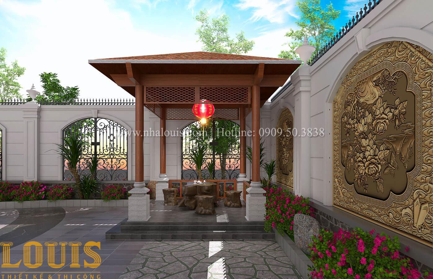 Sân vườn Mẫu nhà biệt thự 3 tầng đẹp thuần khiết tại Bình Dương - 39