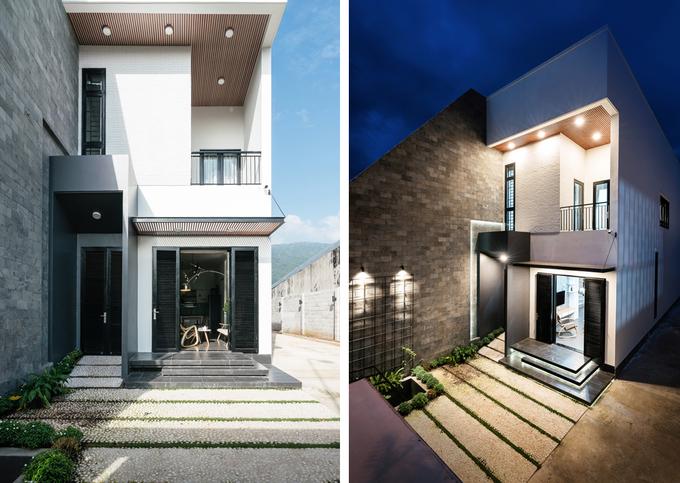 Mẫu nhà phố 2 tầng thiết kế hiện đại đẹp hút mắt ở Đồng Nai