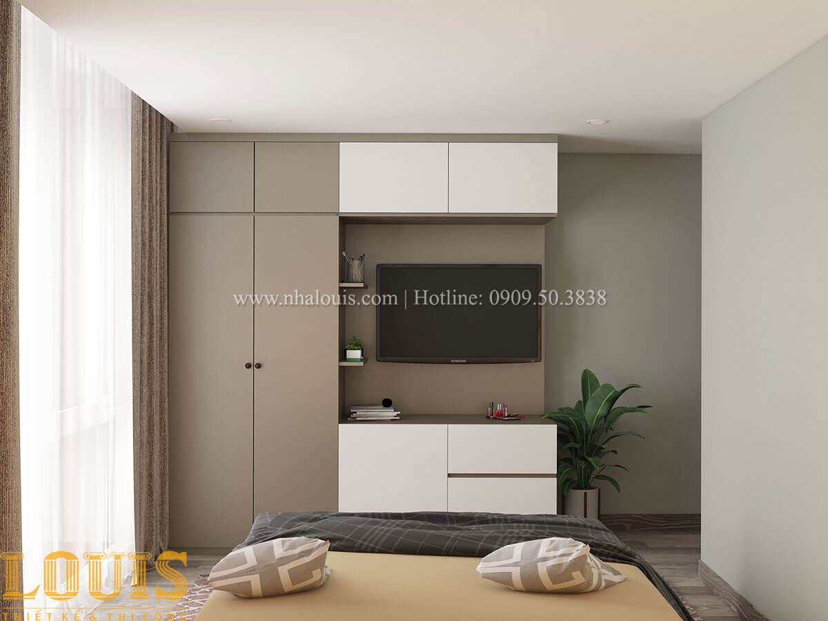 Phòng ngủ Nhà ống mặt tiền 4m phong cách hiện đại tại Quận Bình Thạnh - 37