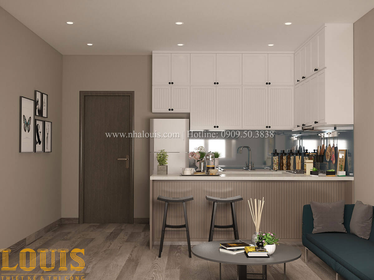 Bếp và phòng ăn Nhà ống mặt tiền 4m phong cách hiện đại tại Quận Bình Thạnh - 39