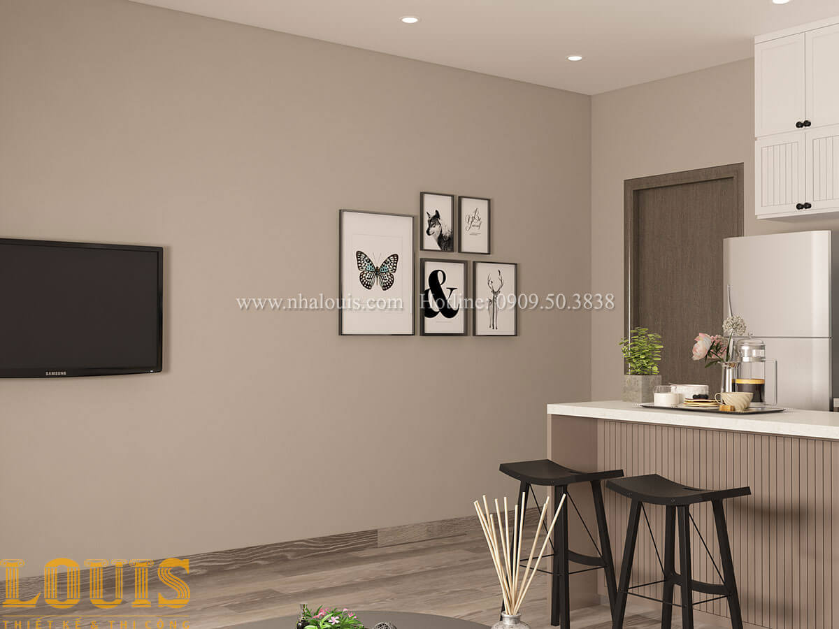 Phòng khách Nhà ống mặt tiền 4m phong cách hiện đại tại Quận Bình Thạnh - 40