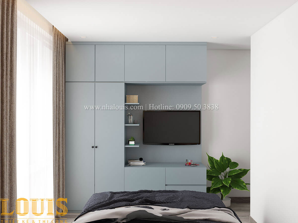 Phòng ngủ Nhà ống mặt tiền 4m phong cách hiện đại tại Quận Bình Thạnh - 47