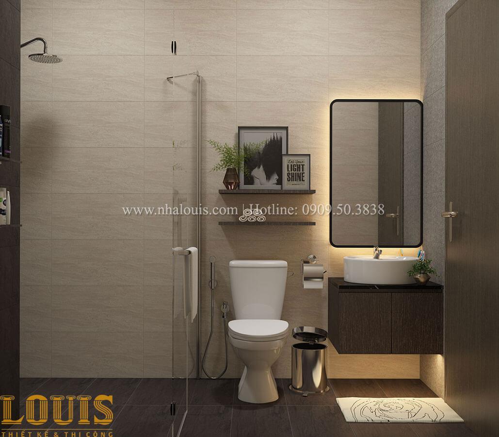 Phòng tắm và WC Nhà ống mặt tiền 4m phong cách hiện đại tại Quận Bình Thạnh - 48