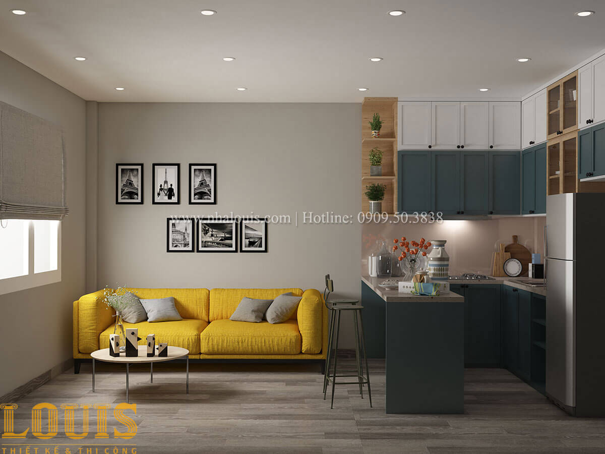 Phòng khách Nhà ống mặt tiền 4m phong cách hiện đại tại Quận Bình Thạnh - 57