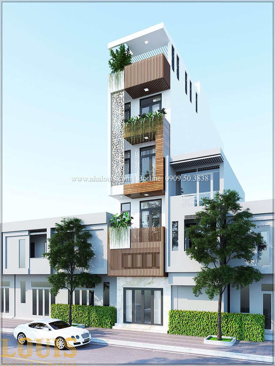 Mặt tiền Thiết kế cải tạo nhà phố 6 tầng chuẩn tinh tế tại Quận 11 - 03