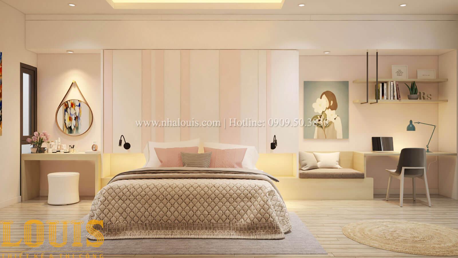 Phòng ngủ con gái Thiết kế cải tạo nhà phố 6 tầng chuẩn tinh tế tại Quận 11 - 30