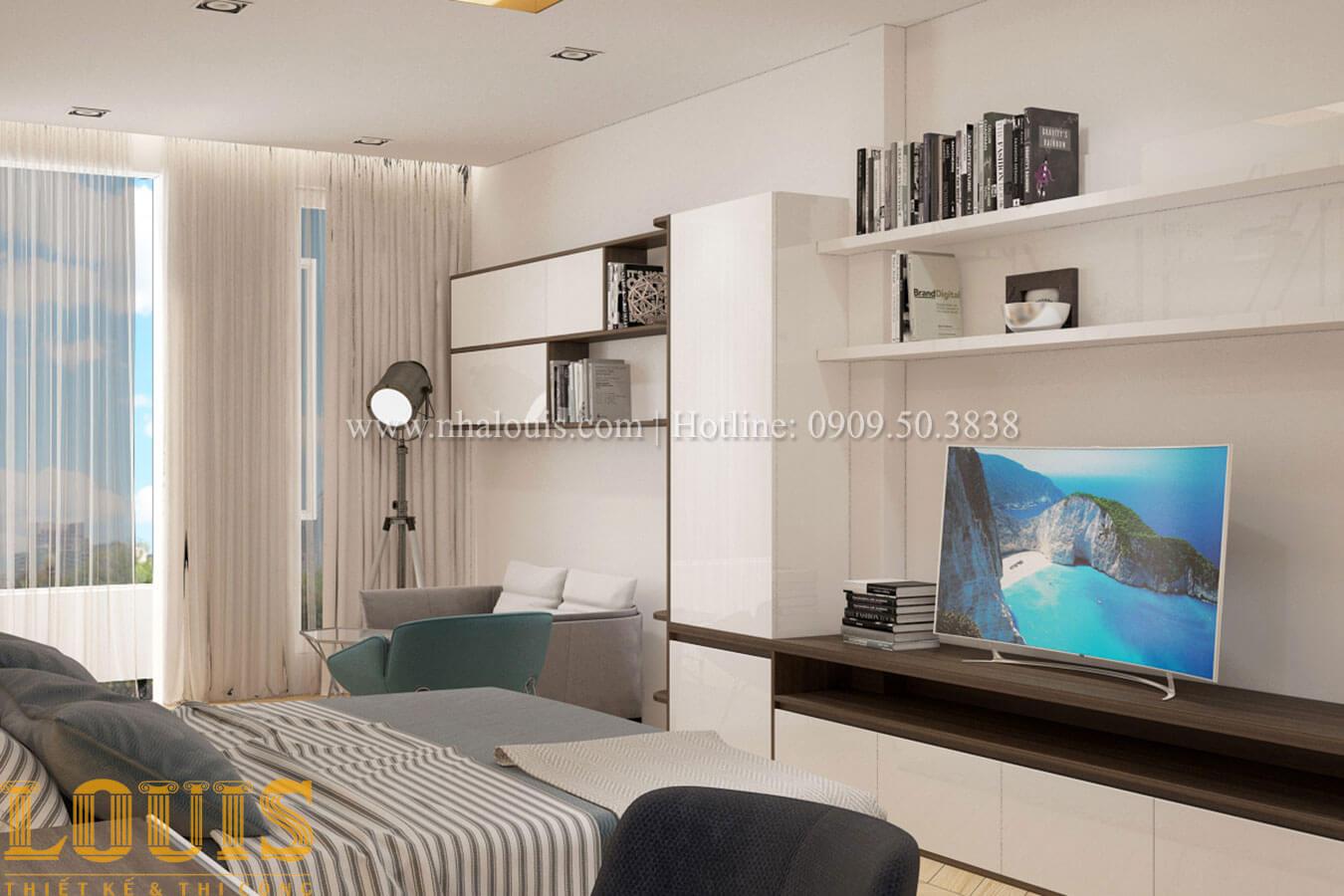 Phòng ngủ con trai Thiết kế cải tạo nhà phố 6 tầng chuẩn tinh tế tại Quận 11 - 38
