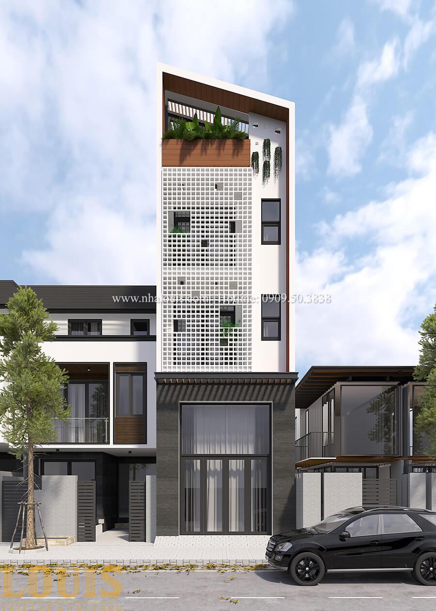 Mặt tiền Thiêt kế nhà đơn giản tinh tế với không gian mở tại Tân Bình - 01