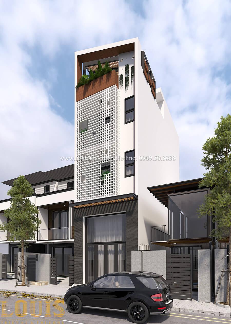 Mặt tiền Thiêt kế nhà đơn giản tinh tế với không gian mở tại Tân Bình - 02