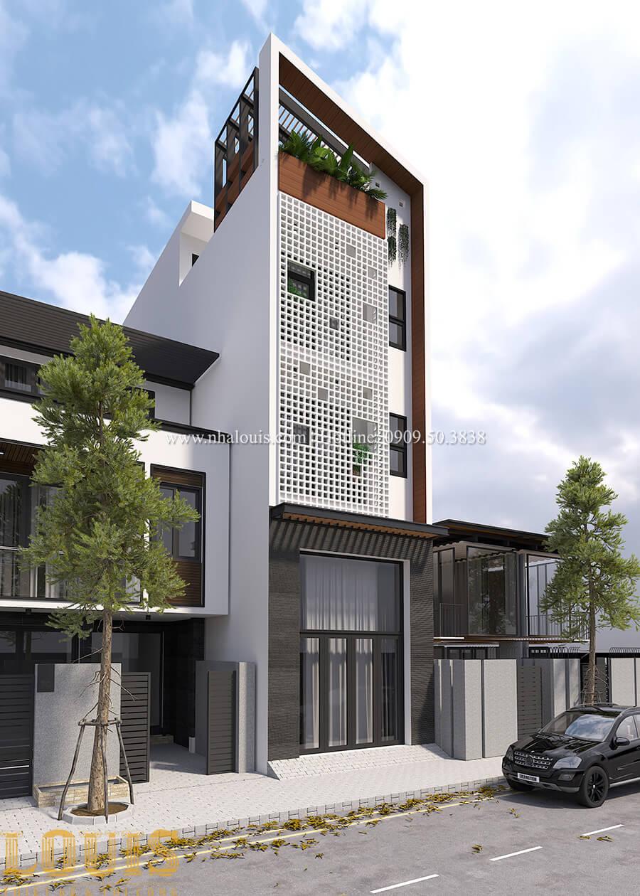 Mặt tiền Thiêt kế nhà đơn giản tinh tế với không gian mở tại Tân Bình - 03