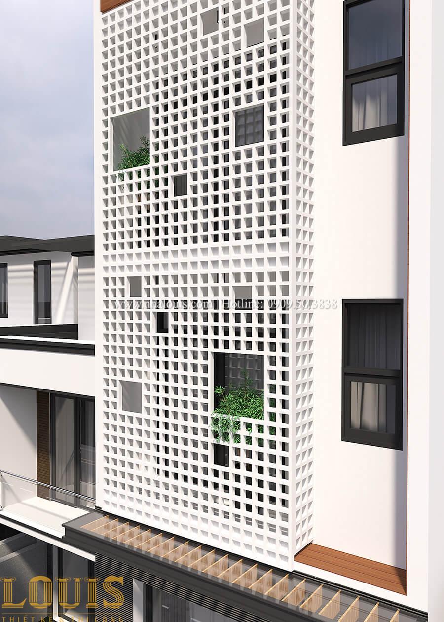 Mặt tiền Thiêt kế nhà đơn giản tinh tế với không gian mở tại Tân Bình - 04