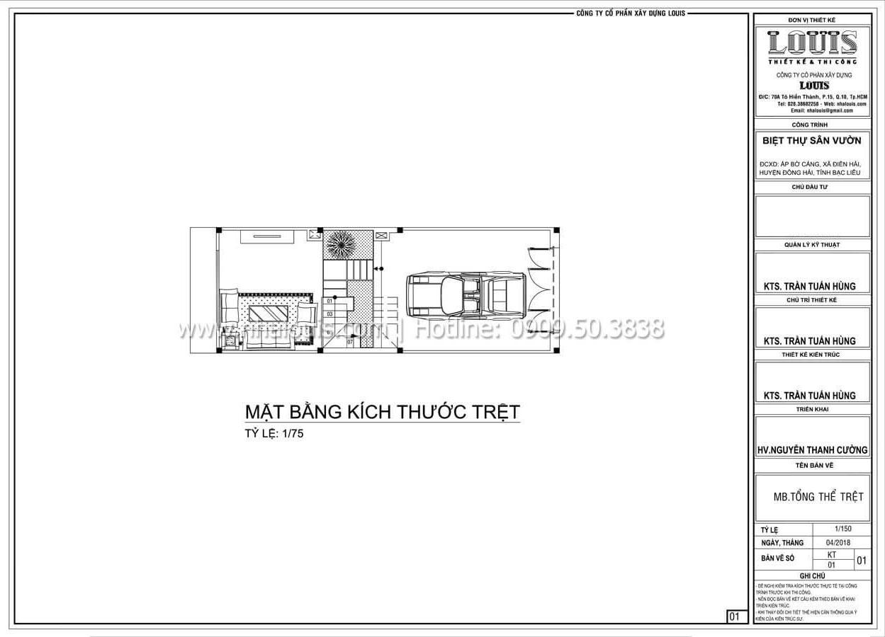 Mặt bằng tầng trệt Thiết kế nhà đơn giản tinh tế với không gian mở tại Tân Bình - 10