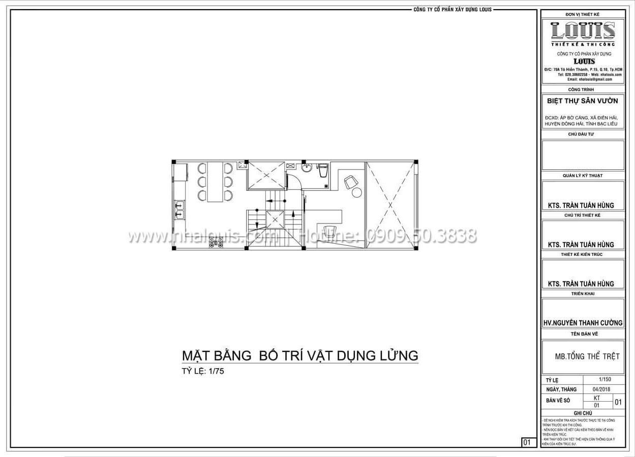 Mặt bằng tầng lửng Thiết kế nhà đơn giản tinh tế với không gian mở tại Tân Bình - 11