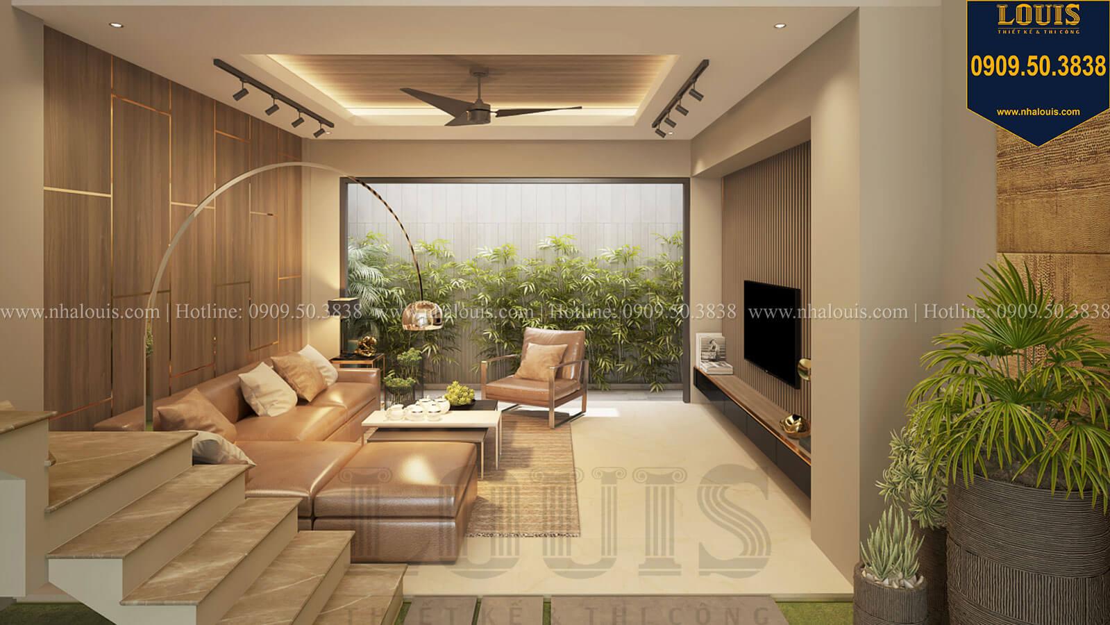 Phòng khách Nhà đơn giản nhưng tinh tế với không gian mở tại Tân Bình - 15