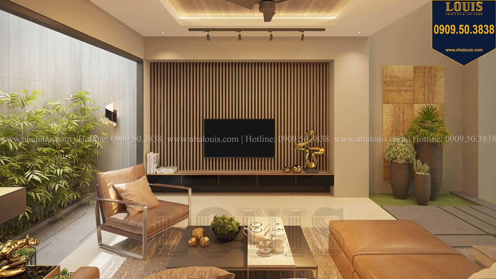 Phòng khách Nhà đơn giản nhưng tinh tế với không gian mở tại Tân Bình - 16