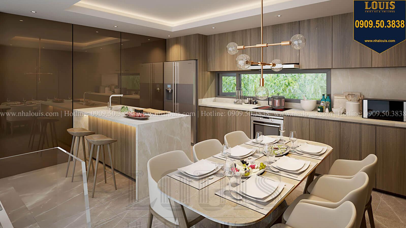 Bếp và phòng ăn Nhà đơn giản nhưng tinh tế với không gian mở tại Tân Bình - 19