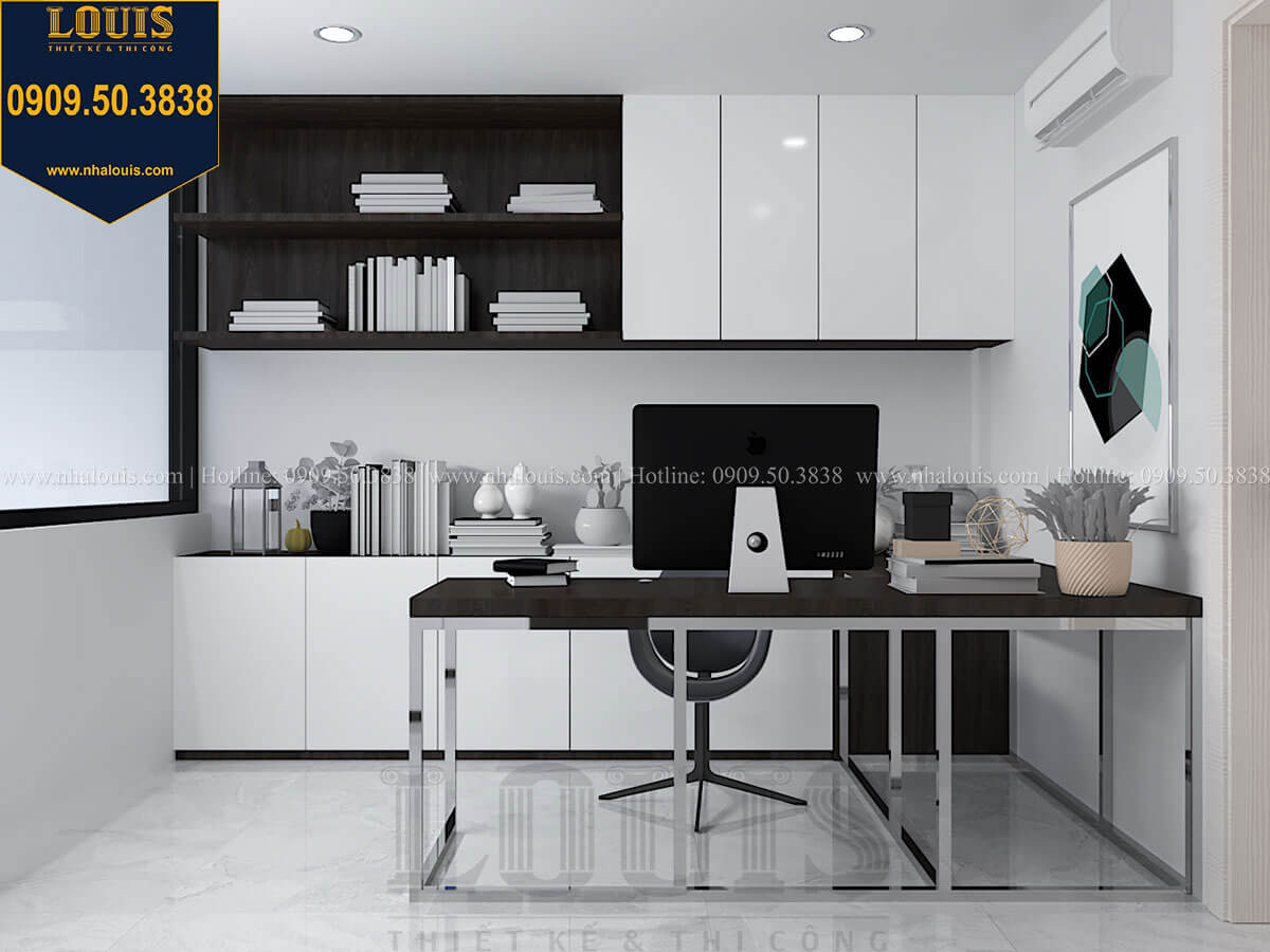 Phòng làm việc Nhà đơn giản nhưng tinh tế với không gian mở tại Tân Bình - 21