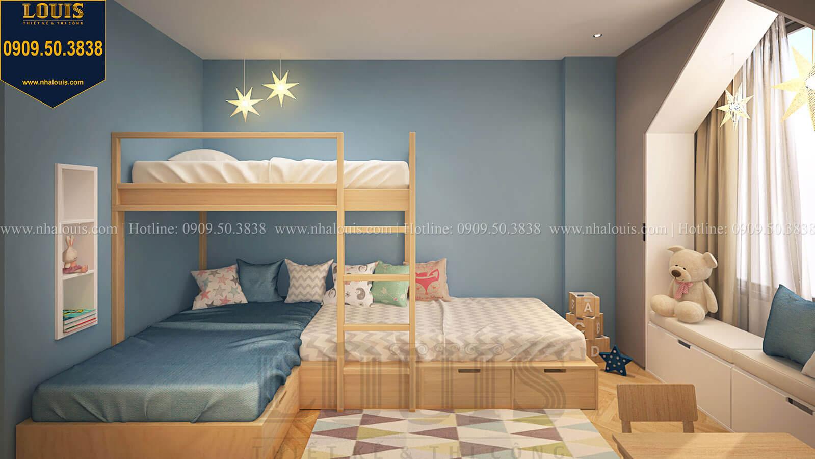Phòng ngủ con trai Nhà đơn giản nhưng tinh tế với không gian mở tại Tân Bình - 31