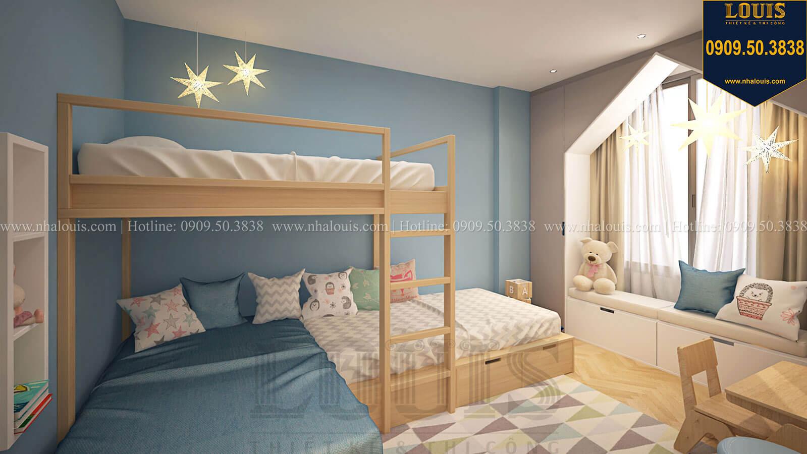 Phòng ngủ con trai Nhà đơn giản nhưng tinh tế với không gian mở tại Tân Bình - 33