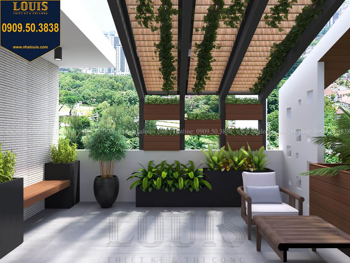 Sân thượng Nhà đơn giản nhưng tinh tế với không gian mở tại Tân Bình - 38