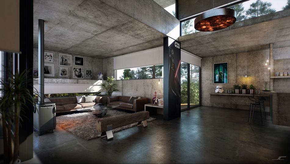 Thiết kế nội thất căn hộ phong cách công nghiệp trần trụi và cá tính