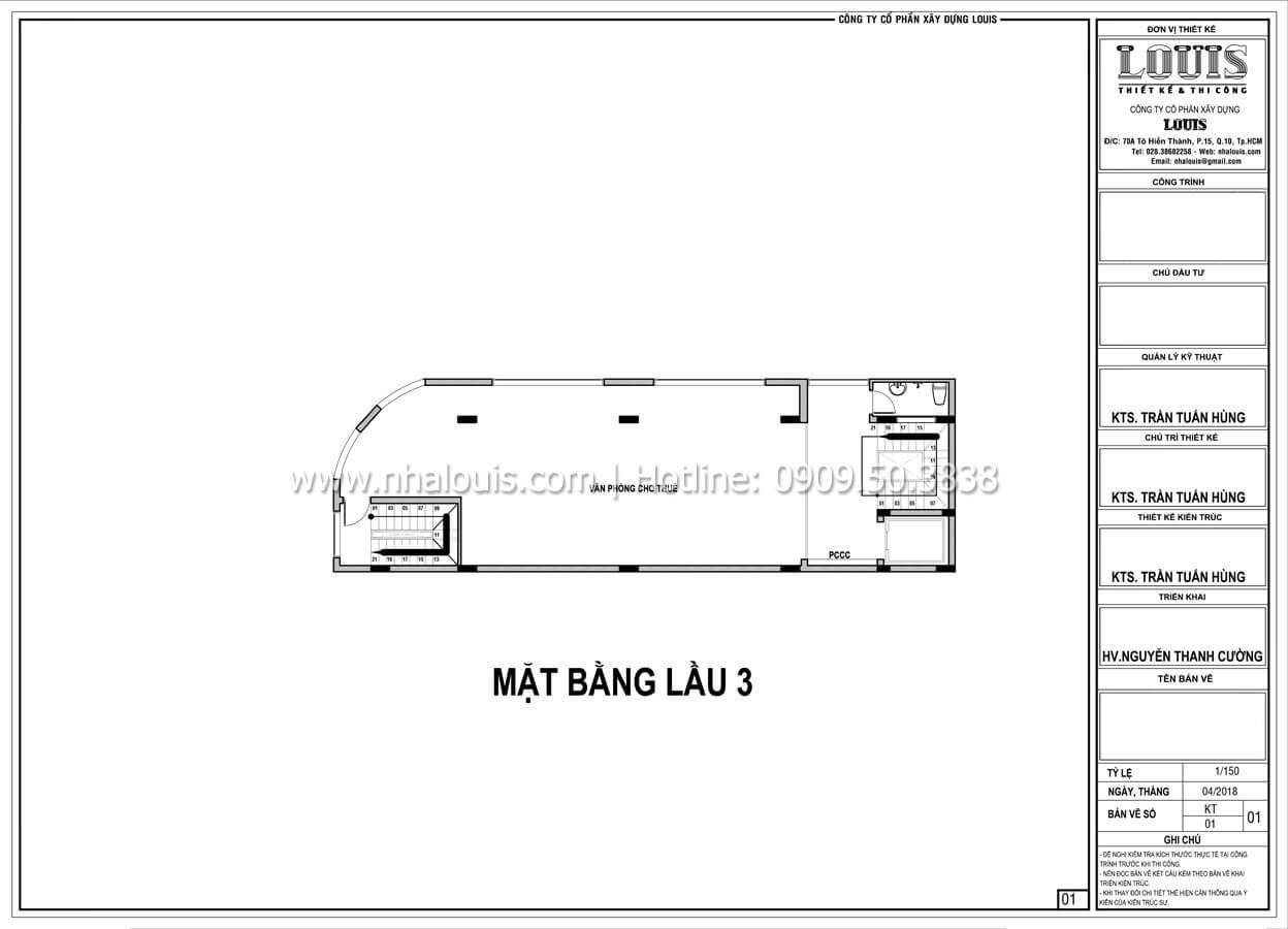 Mặt bằng tầng 3 Thiết kế văn phòng cho thuê sang trọng và đẳng cấp tại Đà Nẵng - 14
