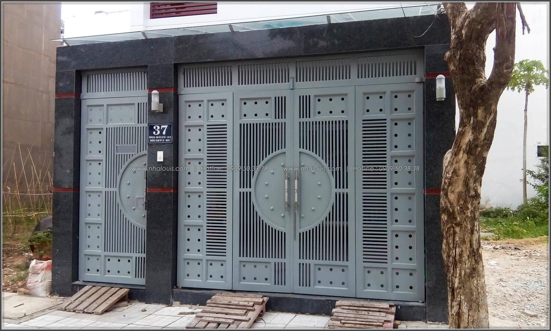 Lắp đặt và sơn hoàn thiện cửa cổng thép hộp Báo Giá Thi Công Hoàn Thiện - 08