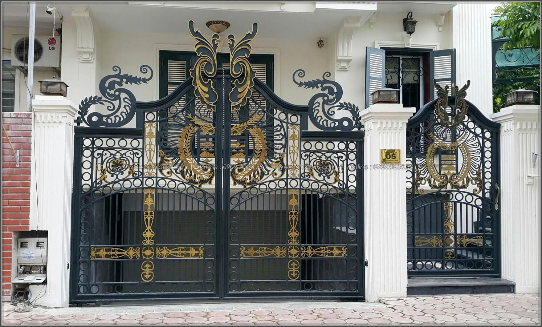 Lắp đặt và sơn hoàn thiện cửa cổng sắt mỹ nghệ Báo Giá Thi Công Hoàn Thiện - 09